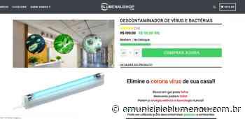 Com nome de Blumenau, site vende equipamento que promete eliminar Covid-19 e é denunciado pela USP - O Município Blumenau