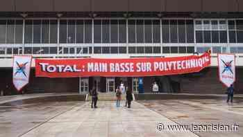 Greenpeace manifeste contre Total à l'École polytechnique de Palaiseau - Le Parisien