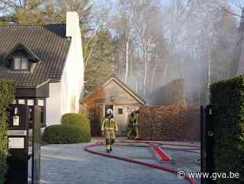 Brandweer blust brandje in bijgebouw - Gazet van Antwerpen