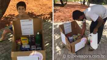 Menino cria 'caixa solidária' para ajudar moradores de rua durante pandemia - Itupeva Agora
