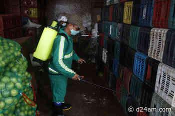 Coronavírus no Amazonas Prefeitura realiza higienização e desinfecção da feira Manaus Moderna Além de prevenir contra - D24am.com