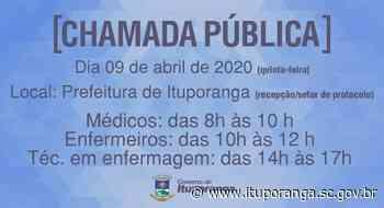 Administração Municipal de Ituporanga faz chamada pública para contratar profissionais de saúde - Prefeitura de Ituporanga