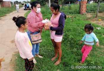 Entregan alimentos a las familias de diversos barrios de Pailón - EL DEBER