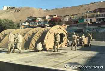 Instalan puesto de atención médica en Arica para aumentar las camas para casos de Covid-19