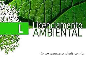REQUERIMENTO DA LICENÇA AMBIENTAL: SOUSA & COSTA COMERCIO DE EMBALAGENS LTDA - NewsRondônia