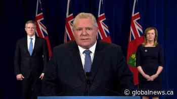 Coronavirus outbreak: Doug Ford outlines scope of Ontario government's economic response to COVID-19