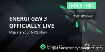 Energi Gen 3 Launch Features 1000 NRG To Kick Start with a MasterNode - The Cryptocurrency Analytics