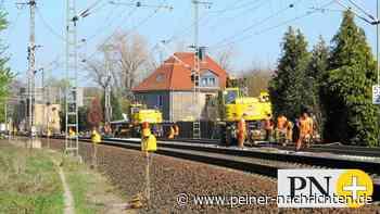 Beinahe-Unfall bei Gleisbau bei Vechelde Vechelde. Gleise dürfen nur an Bahnübergängen gequert werden - Peiner Nachrichten