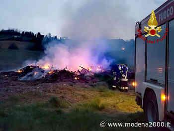 Incendio di una legnaia a Monteveglio - Modena 2000