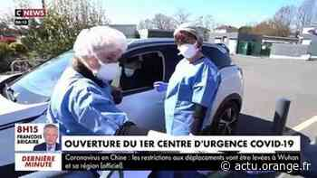 VIRUS - A Taverny, dans le Val-d'Oise, un gymnase a été transformé en centre d'urgence et propose des consultations de diagnostic - VIDEO - Actu Orange