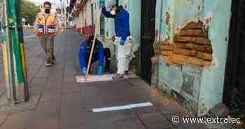 En Cayambe se marca el piso para garantizar distanciamiento social por coronavirus - Portal Extra