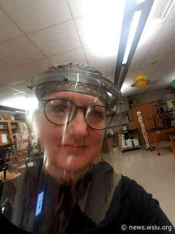 Cobden High School Teacher Producing Face Shields and Masks - WSIU
