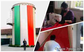 Tribiano, il silos della piazza del comune diventa tricolore: «Un omaggio al Paese» - 7giorni