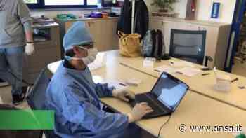 Coronavirus, test sierologici in un'azienda di trasporti di Tribiano - Italia - Agenzia ANSA