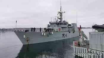 Coronavirus: HMCS Shawinigan and HMCS Glace Bay return to Halifax - Global News