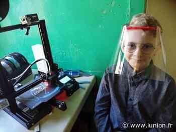 À 10 ans, Augustin fabrique des visières de protection à Sissonne - L'Union