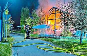Scheune in Sankt Wolfgang brennt komplett ab - PNP Plus