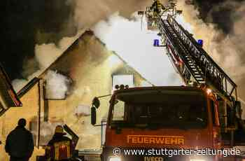 Brand in Donzdorf - Lagerschuppen abgebrannt – War es Brandstiftung? - Stuttgarter Zeitung