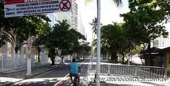 Prefeitura de Guarujá inicia implantação de ciclofaixa em Pitangueiras - Diário do Litoral