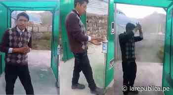 Arequipa: Joven de Chivay construye cabina de desinfección de personas [VIDEO] - LaRepública.pe