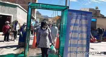 Instalan cabina de desinfección en mercado de Chivay - Diario Correo