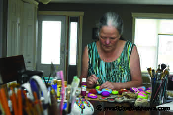 Redcliff woman half way through challenge to paint 2020 rocks this year - Medicine Hat News