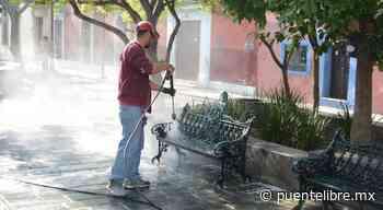 Ciudadanos de Nuevo Casas Grandes sanitizan lugares públicos - Puente Libre La Noticia Digital