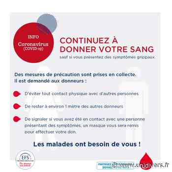 Don du sang Foyer municipal 20 avril 2020 - Unidivers