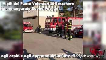 """BOSCONERO - I Vigili del Fuoco Volontari alla Casa di Riposo: """"Vi siamo vicini"""" (VIDEO) - ObiettivoNews"""