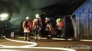 Brand in Mulfingen: Kuhstall steht komplett in Flammen – 300.000 Euro Schaden - SWP