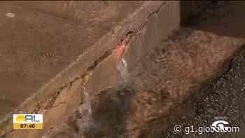 Moradores de Bebedouro, em Maceió, denunciam vazamento de água limpa - G1