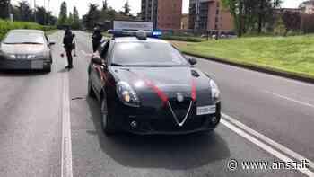 Coronavirus, controlli sulle strade a San Donato Milanese a Pasquetta - Italia - Agenzia ANSA