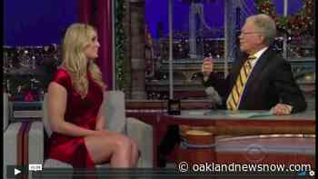 Lindsey Vonn Hot Legs Basic Instinct Dress For David Letterman Interview In 2011 - Oakland News Now