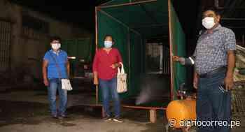 Santiago de Cao: Instalan túneles para desinfectar a ciudadanos en la entrada de mercados - Diario Correo