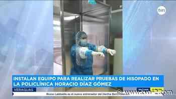 Instalan cabina para realizar hisopados en la policlínica de Santiago en Veraguas - TVN Panamá