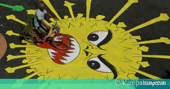 Foto: Grafiti Corona Hiasi Jalan di Chennai, India, Agar Warga Tak Keluyuran - kumparan.com - kumparan.com