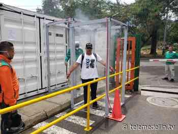 Habitantes de Sopetrán crearon una máquina desinfectante - Telemedellín
