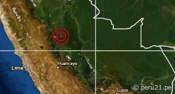 IGP reportó un sismo de magnitud 4.4 en Oxapampa - Diario Perú21