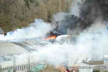Großbrand bei Firma in Tettau - Frankenpost
