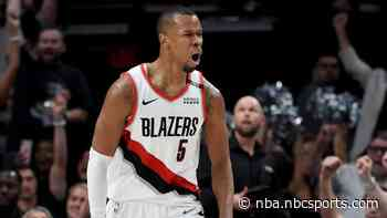 Rodney Hood, recovering from ruptured Achilles, expect to return to Portland next season