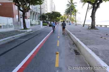 Guarujá começa a implantar ciclofaixa na avenida da Praia de Pitangueiras - Jornal Costa Norte