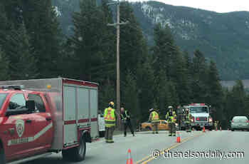 No one injured in single-vehicle accident near South Slocan Junction - The Nelson Daily