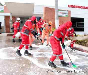 Lavan y desinfectan áreas públicas de Corozal y Morroa - El Universal - Colombia