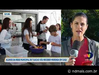 Alunos da rede municipal de Tijucas vão receber merenda em casa - ND