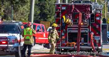 Fire burns unoccupied Brackendale trailer and shed Sunday - Squamish Chief