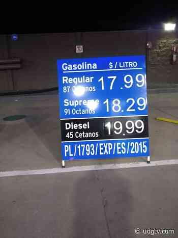 """Gasolina """"no baja"""" en Lagos de Moreno - UDG TV"""