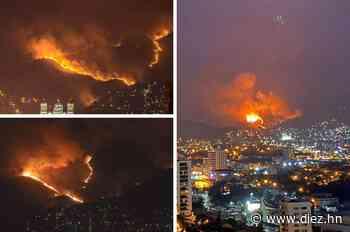 Las imágenes del voraz incendio en el sector de La Montañita en Tegucigalpa - Diez.hn