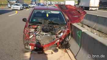 Kontrolle verloren: Autofahrer fährt auf A8 bei Karlsbad gegen Lkw - BNN - Badische Neueste Nachrichten