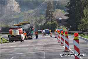 Belagsarbeiten: B 27 zwischen Dotternhausen und Schömberg ist einspurig gesperrt - Zollern-Alb-Kurier
