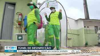 Empresa de Aracruz, ES, instala túnel de descontaminação para trabalhadores - G1
